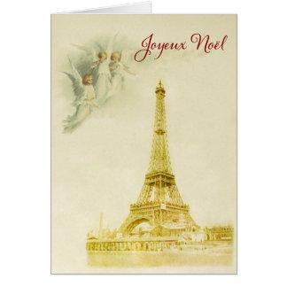 Parijs met engelenKerstkaart Kaart