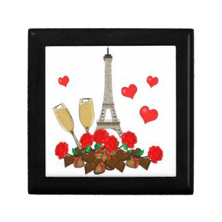 Parijs, stad van liefde decoratiedoosje