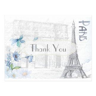 Parijs Themed dankt u Briefkaart