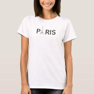 Parijs van vrouwen met de toren van Eiffel T Shirt