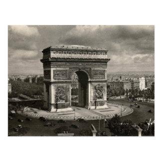 Parijs vintage Arc DE Triomphe 1943 Briefkaart