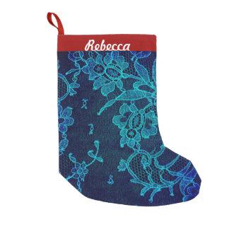 Parijse Vrouwelijk Victoriaans Gotisch Marineblauw Kleine Kerstsok