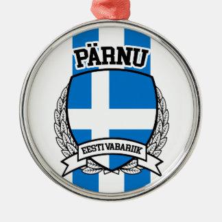 Pärnu Zilverkleurig Rond Ornament