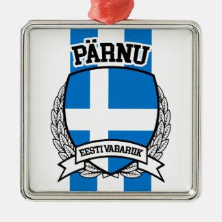Pärnu Zilverkleurig Vierkant Ornament