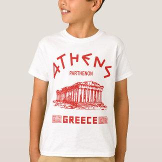 Parthenon - (het rood) Athene - Grieks T Shirt
