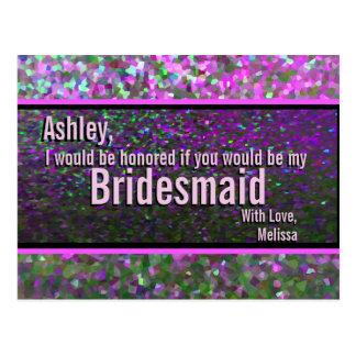 Partij Glam - schitter zult u Mijn Bruidsmeisje Briefkaart