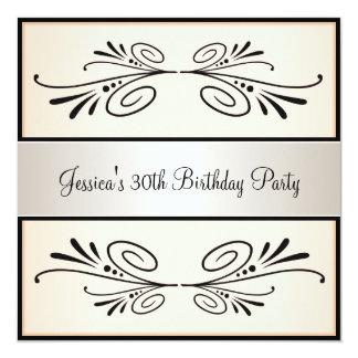 partij van de Abrikoos van de 30ste Verjaardag de 13,3x13,3 Vierkante Uitnodiging Kaart