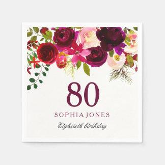 Partij van de Verjaardag Boho tachtigste van Papieren Servetten