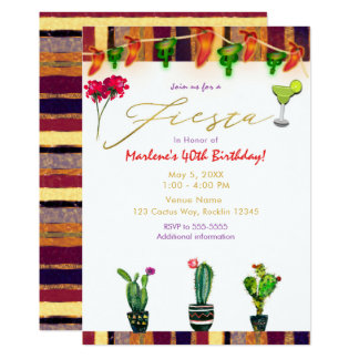 Partij van de Verjaardag van de Cactus van het Kaart