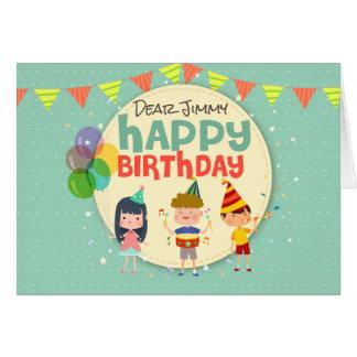Partij van de Verjaardag van de capricieuze Kinder Kaart