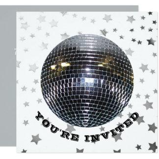 Partij van de Verjaardag van de Dans van de disco 13,3x13,3 Vierkante Uitnodiging Kaart
