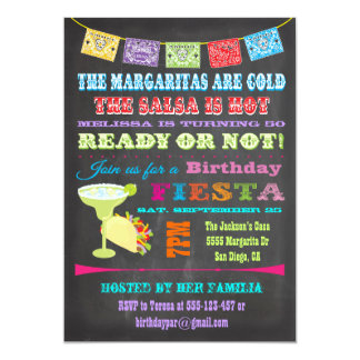 Partij van de Verjaardag van de Fiesta van het 12,7x17,8 Uitnodiging Kaart