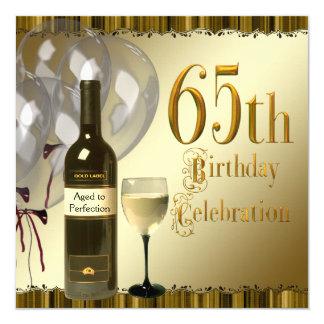 Partij van de Verjaardag van de Fles van het Glas 13,3x13,3 Vierkante Uitnodiging Kaart