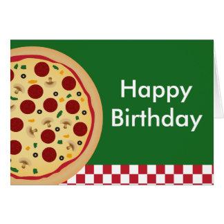 Partij van de Verjaardag van de pizza de Gelukkige Briefkaarten 0