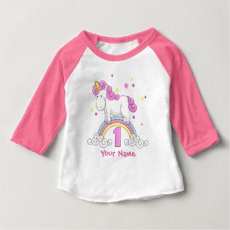 Partij van de Verjaardag van de Regenboog van de Baby T Shirts
