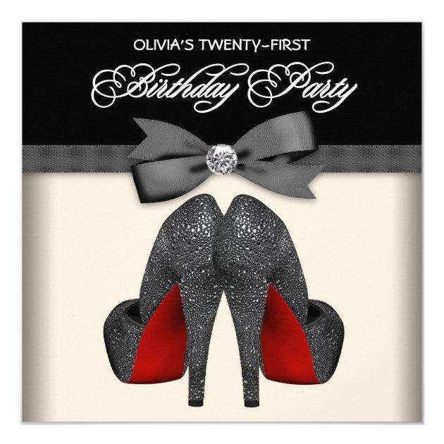 Partij van de Verjaardag van de rode Zwarte Vrouw 13,3x13 ...