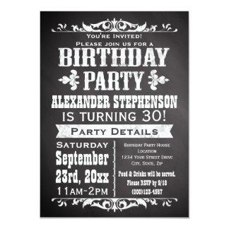 Partij van de Verjaardag van het Bord van de Lei 11,4x15,9 Uitnodiging Kaart