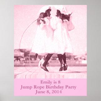 Partij van de Verjaardag van het vintage Poster