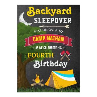 Partij van de Verjaardag van Sleepover van de 12,7x17,8 Uitnodiging Kaart