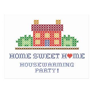 Partij van het Inwijdingsfeest van het Huis van Briefkaart