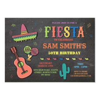 Partij van het Pet van Mexico van de Fiesta van de 12,7x17,8 Uitnodiging Kaart