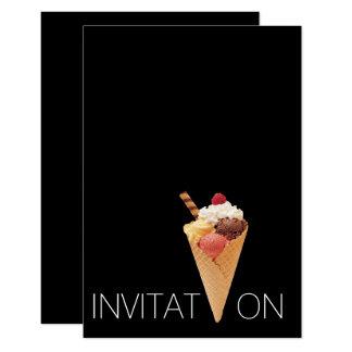 Partij van het Roomijs Gelato van Minimalism de 8,9x12,7 Uitnodiging Kaart