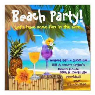 Partij van het Strand van de Cocktails van de palm Kaart