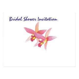 Partij van het Vrijgezellenfeest van de orchidee Briefkaart