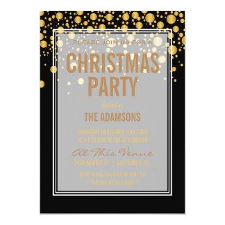 Partij | van Kerstmis Vintage Gouden Confettien 12,7x17,8 Uitnodiging Kaart