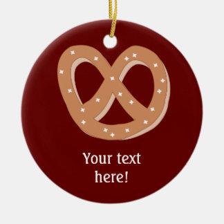 Pas deze grafische Knoop van Pretzel aan Rond Keramisch Ornament