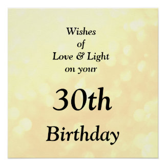 Pas deze Liefde en Lichte verjaardagsvriend aan Poster