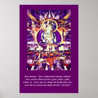 Pas dit Poster aan - Gelukkige Boedha