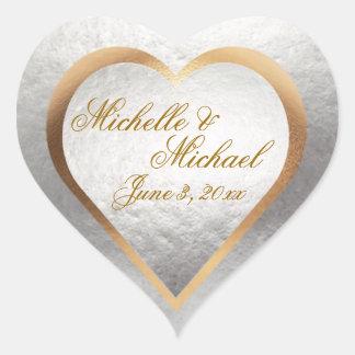 Pas Hart van de Uitnodiging van het Huwelijk het Hart Sticker