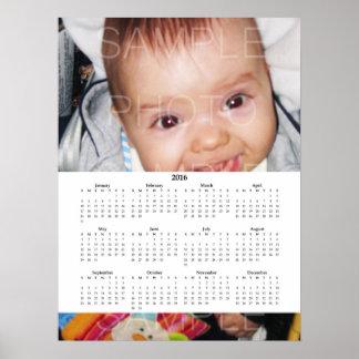 Pas het met Uw foto   Witte Kalender 2016 aan Poster