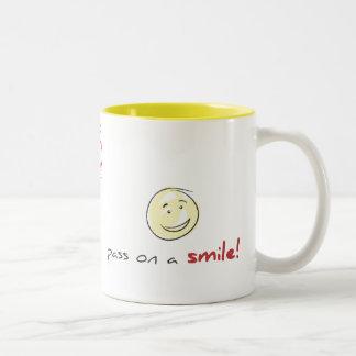 Pas het! tweekleurige koffiemok