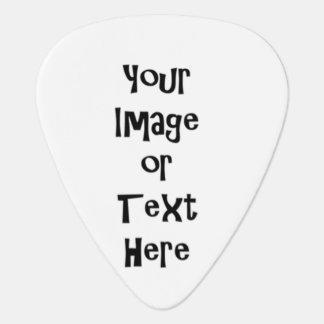 Pas met gepersonaliseerde afbeeldingen en teksten plectrum