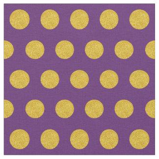 Pas uw eigen gouden stippen in paars aan stof