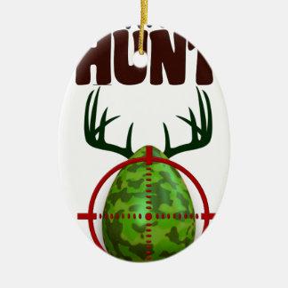 Pasen grappig ontwerp, Geboren om de schutter van Keramisch Ovaal Ornament