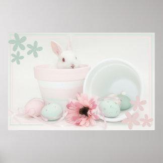 Pasen konijntjesposter poster