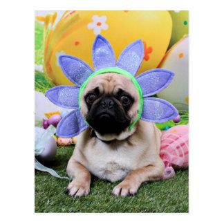 Pasen - Pug - Louie Briefkaart