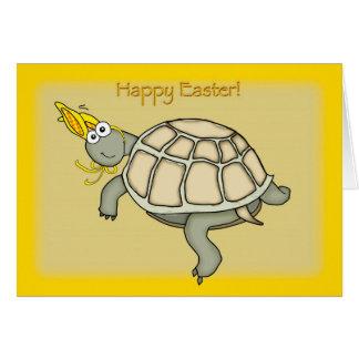 Pasen van de schildpad konijntje! kaart