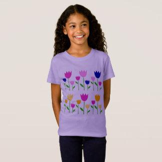 Pasen van meisjes t-shirt met Tulpen