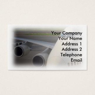 Passagier Jetliner op Tarmac Visitekaartjes
