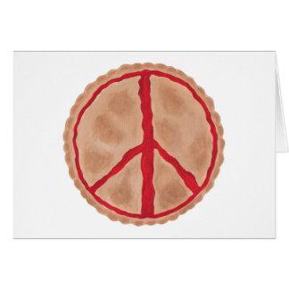 Pastei voor van de de kersenvrede van de Vrede de Briefkaarten 0