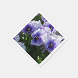 Pastelkleur Blauwe Pansies Papieren Servet
