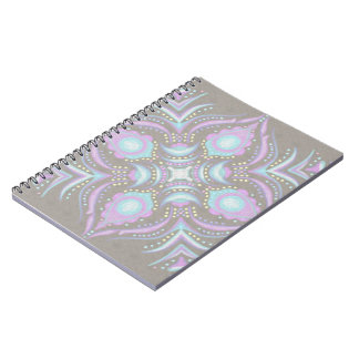 Pastelkleur op Concrete Straat Mandala Notitieboek