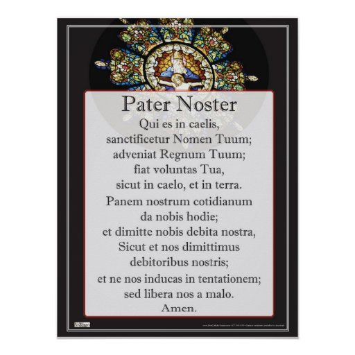 pater noster plaat zazzle