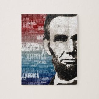 Patriot Abraham Lincoln Legpuzzel