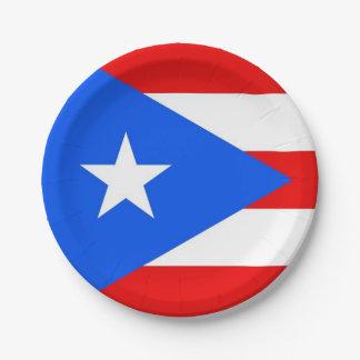 Patriottisch document bord met de vlag van Puerto