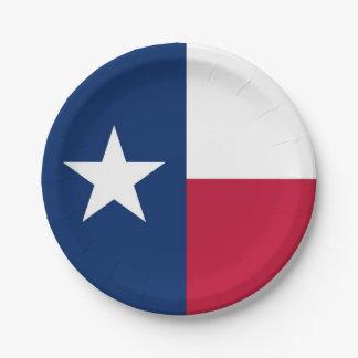 Patriottisch document bord met de vlag van Texas